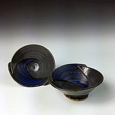 Small Bowl Set in Black by Thomas Harris (Ceramic Bowls)