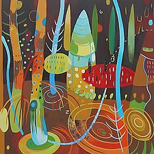 Night Forest by Teresa Cox (Acrylic Painting)