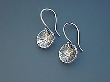 Echoes Circle Dangles by Tavia Brown (Silver Earrings)