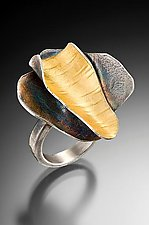 Curly Bark Ring by Lori Gottlieb (Gold & Silver Ring)