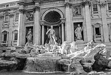 Trevi Fountain by John Maggiotto (Black & White Photograph)