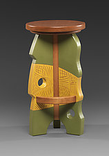 Stool # 5 by Mark Del Guidice (Wood Stool)