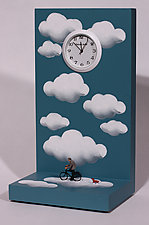 Cloud Bicycle Ride by Pascale Judet (Wood Clock)