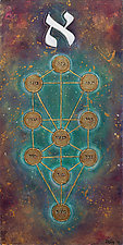 The Ten Sephirot by Chana Zelig (Acrylic Painting)