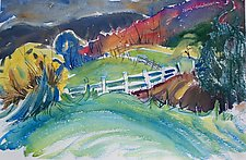 Another October Day by Alix Travis (Watercolor Painting)