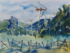 Meadow View by Alix Travis (Watercolor Painting)