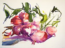 Radishes by Alix Travis (Watercolor Painting)