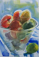 Bowl of Fruit by Alix Travis (Watercolor Painting)