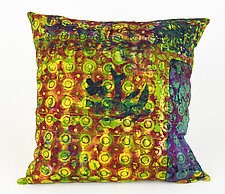 Bohemian Medley Square Pillow by Ayn Hanna (Cotton & Linen Pillow)