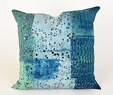 Cool Rain Pillow by Ayn Hanna (Cotton & Linen Pillow)