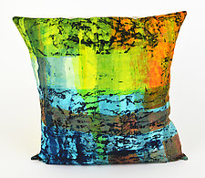 Fast Times Pillow by Ayn Hanna (Cotton & Linen Pillow)
