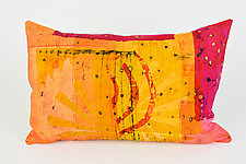 Hot Mod Shine Pillow by Ayn Hanna (Cotton & Linen Pillow)