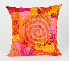 Hot Mod Swirl Pillow by Ayn Hanna (Cotton & Linen Pillow)