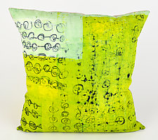 Mint Power Lime Greenery Pillow by Ayn Hanna (Cotton & Linen Pillow)