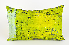 Power Lime Greenery Pillow by Ayn Hanna (Cotton & Linen Pillow)