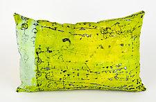 Power Lime Greenery Pillow by Ayn Hanna (Cotton & Linen Pillow)