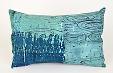 Rain Puddles Pillow by Ayn Hanna (Cotton & Linen Pillow)