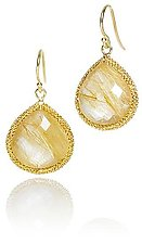 Rutilated Quartz Candy Drop Earring by Sara Freedenfeld (Gold & Stone Earrings)