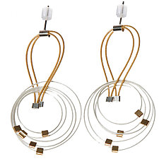 Deco Earrings by Meghan Patrice  Riley (Gold & Steel Earrings)