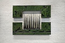 Forest Green Wall Piece by Carlos Page (Steel & Concrete Wall Sculpture)