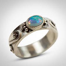 Ethiopian Opal Ring by Nancy Troske (Silver & Stone Ring)