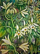 Vanilla Orchid II by Helen Klebesadel (Watercolor Painting)
