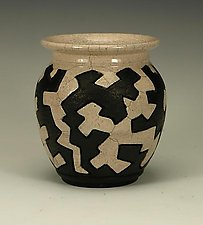Raku Puzzle Vessel by Lance Timco (Ceramic Vessel)
