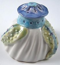 Porcelain Leafy Lidded Box by Carol Barclay (Ceramic Box)