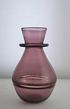 Heliotrope Ring Vase by Richard S. Jones (Art Glass Vase)