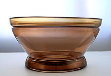 Ring Bowl in Tea by Richard S. Jones (Art Glass Bowl)