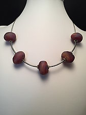 Baroque Bead Necklace by Eloise Cotton (Art Glass Necklace)