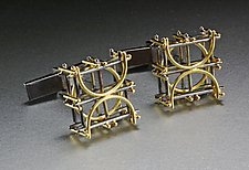 Square Cuff Links by Ben Neubauer (Silver & Gold Cuff Links)