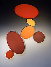 Dot Phase - Reds by James Aarons (Ceramic Wall Sculpture)