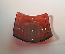Tangerine Bowl by Alicia Kelemen (Art Glass Bowl)