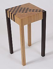 Checker Table by Karel Aelterman (Wood Side Table)