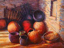 Pots in Light and Shadow by Ritch Gaiti (Oil Painting)