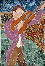 Troubadour by Jonathan I. Mandell (Art Glass & Ceramic Wall Sculpture)