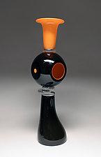 Black Dwelling II by Scott Summerfield (Art Glass Sculpture)
