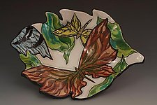 Butterfly Dessert Bowl by Farraday Newsome (Ceramic Bowl)