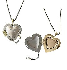 Chamber Heart Locket by Thomas Mann (Silver & Bronze Neckalce)