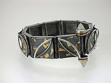 Dynamic Triangle Bracelet by Christine MacKellar (Gold & Silver Bracelet)