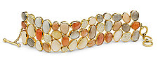 Moonstone and Diamond Bracelet by Pamela Huizenga  (Gold & Stone Bracelet)