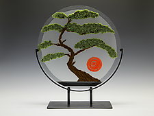 Bonsai Tree by Patti & Dave Hegland (Art Glass Sculpture)