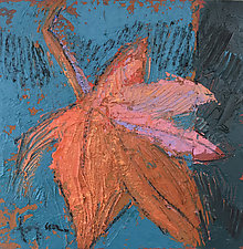 Autumn Leaf by Dorothy Fagan (Mixed-Media Wall Art)