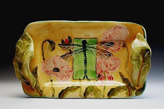 Poppy and Dragonfly Small Tray