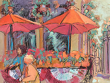 The Flower Market by Dorothy Fagan (Mixed-Media Wall Art)