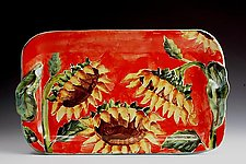 Medium Tray - Sunflowers by Peggy Crago (Ceramic Tray)