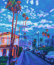 Orange Palms by Bonnie Lambert (Oil Painting)
