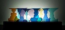 Happy Hour by Bernie Huebner and Lucie Boucher (Art Glass Sculpture)