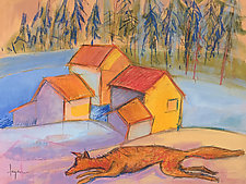 Fox and the Portal by Dorothy Fagan (Mixed-Media Wall Art)